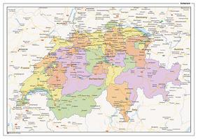 Staatkundige landkaart Zwitserland