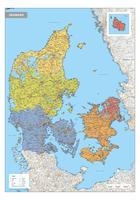 Digitale Denemarken Kaart Staatkundig