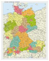 Duitsland-Zwitserland-Oostenrijk regiokaart