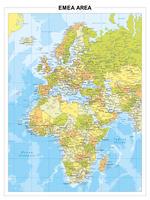 Europa, Midden-Oosten en Afrika, gedetailleerd en engelstalig