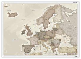 Europakaart nostalgisch