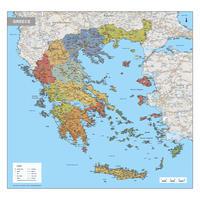 Digitale Griekenland Kaart Staatkundig