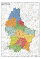Staatkundige kaart Luxemburg