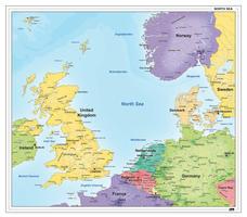 Landen rondom de Noordzee