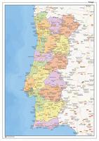 Staatkundige landkaart Portugal