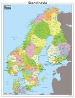 Digitale Scandinavië kaart staatkundig