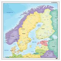 Digitale Kaart van Scandinavië