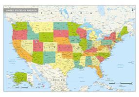 Staatkundige kaart Verenigde Staten