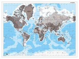 Staatkundige wereldkaart  landennamen
