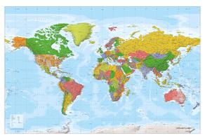 wereldkaart XXL