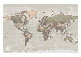 Digitale Wereldkaart Staatkundig XXL