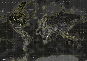 Digitale Wereldkaart Yellow Flash