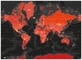 Digitale Wereldkaart Volcanic