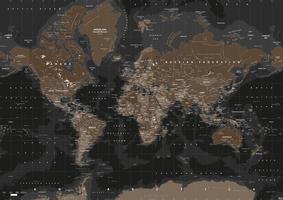 Digitale Wereldkaart Highlands