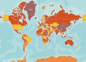 Digitale Wereldkaart Yosemite