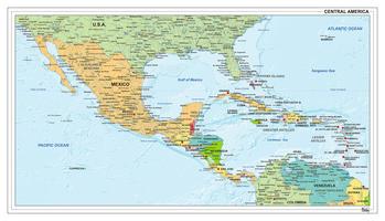 Midden-Amerika staatkundig 1304