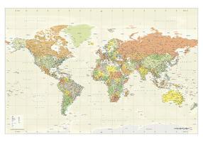 Wereldkaart Staatkundig Engelstalig