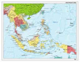 Digitale Zuidoost Azië staatkundig 1305