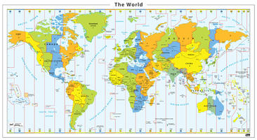 tijdzone wereldkaart
