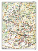 Wegenkaart Luxemburg