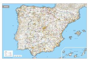 Wegenkaart Spanje