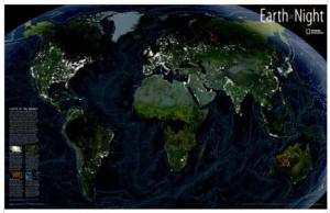 NG Satellietkaart Earth at Night