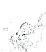 Gratis digitale kaart Europa