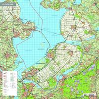 Topografische kaart Flevoland 1:100.000