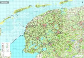 Topografische kaart Friesland 1:100.000