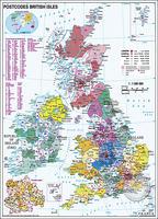 Postcodekaart Verenigd Koninkrijk en Ierland