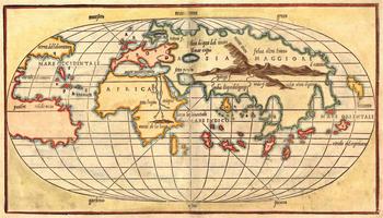 Wereldkaart Bordone