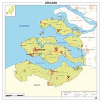 Kaart Zeeland
