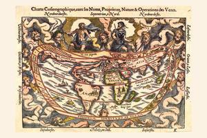 Digitale Wereldkaart Apianos