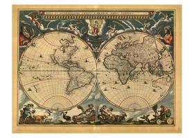 Wereldkaart Blaeu