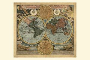 Digitale Wereldkaart Johann Baptist Homann