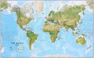 MI Wereldkaart natuurkundig