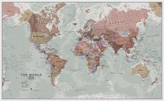 MI Wereldkaart staatkundig Executive Engels