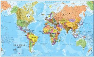 MI Wereldkaart staatkundig Nederlands