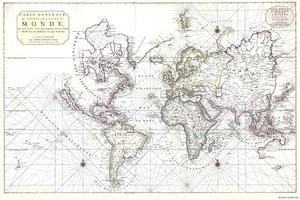 Wereldkaart Pierre Mortir