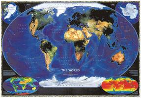 NG Satellietkaart Wereld