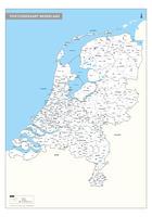 Digitale 2-cijferige Postcodekaart Nederland
