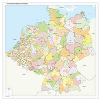 Postcodekaart Benelux+Dland 1 en 2 cijferig