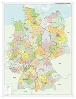 Postcodekaart Duitsland 1-2-3 cijferig 1391