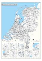 Digitale 4-cijferige Postcodekaart Nederland