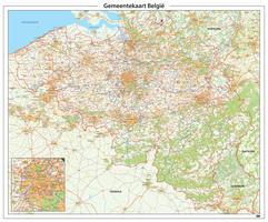 Gemeentekaart België Gedetailleerd