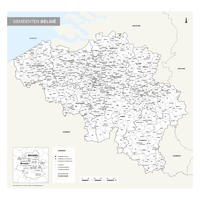 Gemeentekaart België Eenvoudig