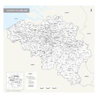 Digitale Gemeentekaart België Eenvoudig