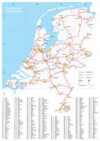 Spoorlijnenkaart Nederland
