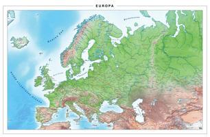 Digitale Europakaart Natuurkundig