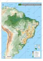 kaart Brazilië digitaal